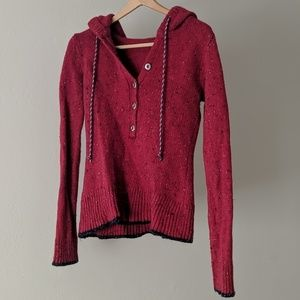 Patagonia wool knit sweater with hood